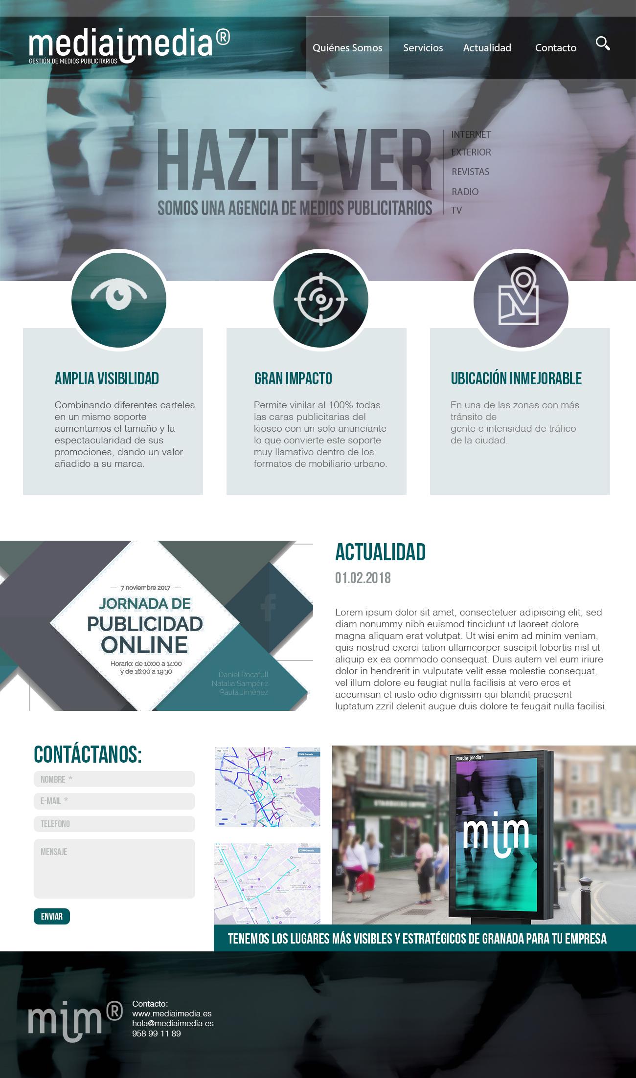 Diseño Landingpage MediaiMedia
